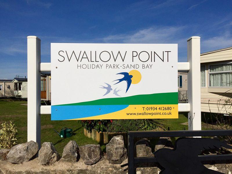 Swallow Point Caravan park sign